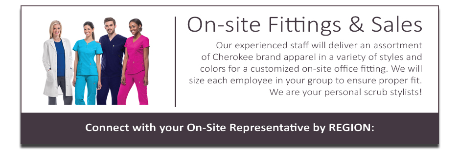 Cherokee4less.com offers on-site office, group, or organization fittings, as well as on-site sales. Request more info.
