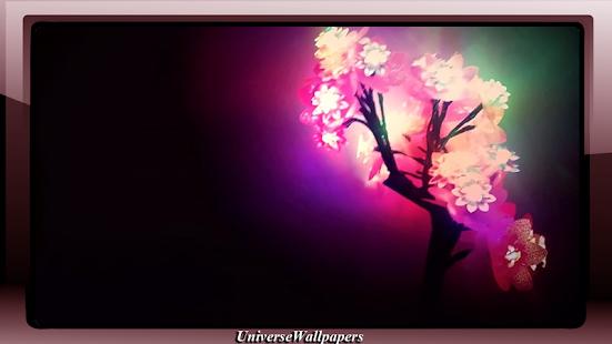 Neon Flowers Wallpaper