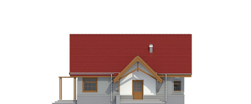 Lolek II z garażem 1-st. bliźniak A-BL1 - Elewacja lewa