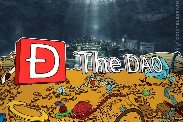 The DAO logo and treasures