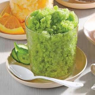 Cucumber-Basil Granita.
