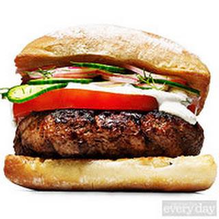 Josh Capon's Go Greek Lamb Burger