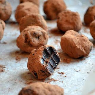 Dark Chocolate Chili Truffles.