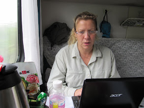 Photo: Day 193 -  Dee Bloging on the Train to  Hong Kong