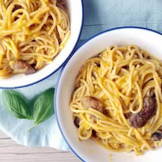 Creamy Butternut Spaghetti (vegan, oil free).