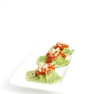 Ricotta & Spinach Stuffed Spinach Ravioli