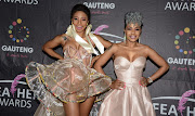 Sisters Kelly Khumalo, left, and Zandie Khumalo-Gumede are feuding.