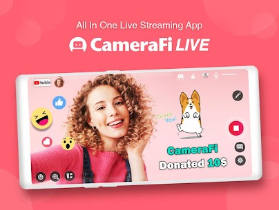 CameraFi Live – YouTube, Facebook, Twitch and Game Apk  Download For Android 9