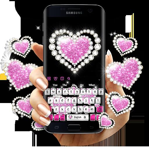 Silver Diamond Love Keyboard