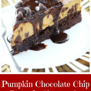 Pumpkin Chocolate Chip Brownie Cheesecake