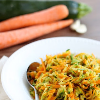 Zucchini and Carrot Hash.