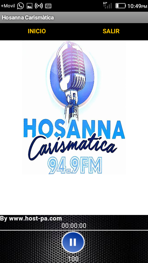 Radio Hosanna Carismática- screenshot