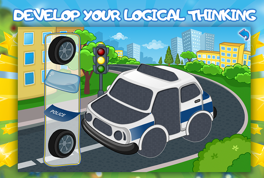 puzzle cars for kids 2 screenshot