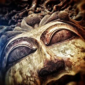 Wooden Face by Geary LeBell - Instagram & Mobile iPhone ( face, wood, asia, carving, teak )