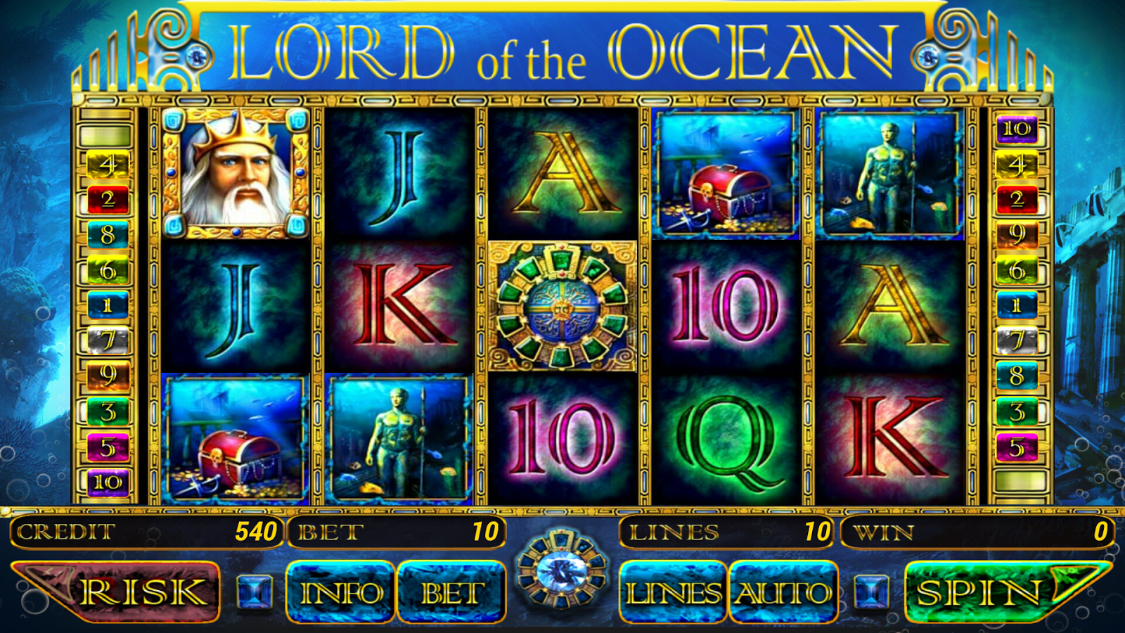 Lord of the ocean free slot machine