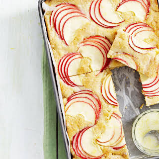 Apple Blondies with Lemon Glaze.