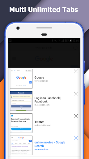 Incognito+ Pro fast private anonymous Browser Apps til Android screenshot