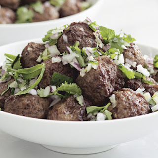 Lamb Meatballs with Mint and Cilantro Chutney Recipe