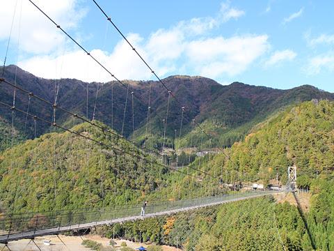 奈良交通「八木新宮線」 ・960 谷瀬の吊り橋 その1