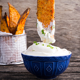 Yam Fries Garlic Dip