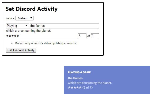 Set Discord Activity