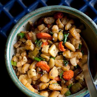 Roasted Flageolet Beans & Vegetables with Preserved Lemon