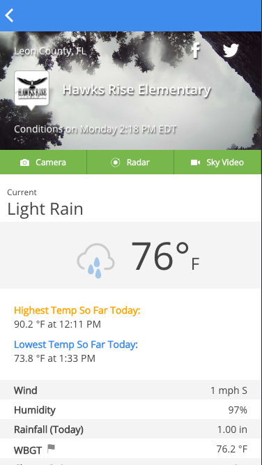WeatherSTEM- screenshot