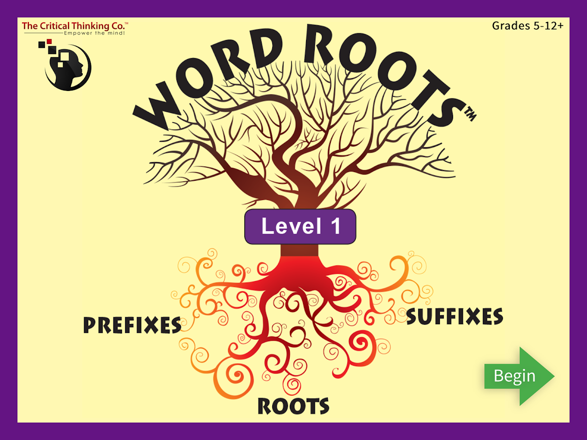 Word Roots Level 1- screenshot