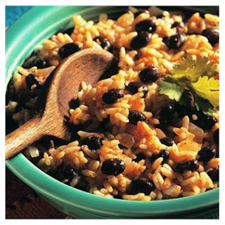 Cuban Style Black Beans and Rice.