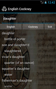 English Cockney Dictionary- screenshot thumbnail