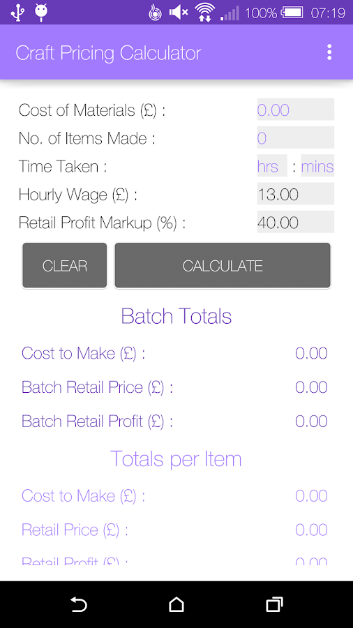 Craft Pricing Calculator Android Apps on Google Play – Product Pricing Calculator