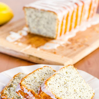 Lemon Poppy Seed Bread with Lemon Icing