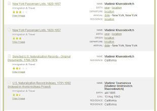 Photo: Vladimir Khassidovitch Владимир Дмитриевич Скопировано с сайта http://ancestry.com/. Результаты поиска на указанные фамилии.Хасидович.