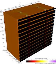 Photo: Wärmestromdichten (zur Identifikation von Wärmebrücken) Farbskala: Astronomie Werteintervall: 0-10 W/m²