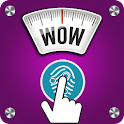 Mobile digital scale prank icon