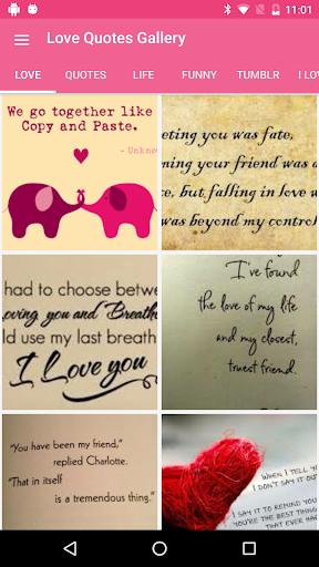 玩免費遊戲APP|下載Love Quotes Gallery app不用錢|硬是要APP