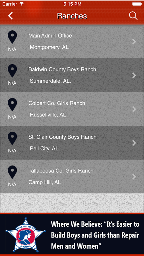 Boys and Girls Ranches of AL- screenshot