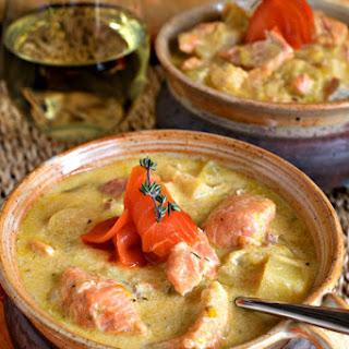 Salmon and Parsnip Chowder
