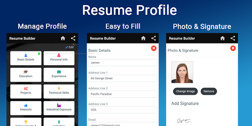 Resume builder Free CV maker templates formats app 9.3 screenshots 2