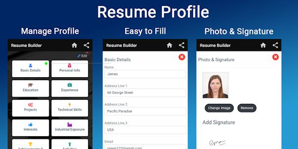 Resume builder Free CV maker templates formats app 9.14 APK + MOD (Unlocked) 2