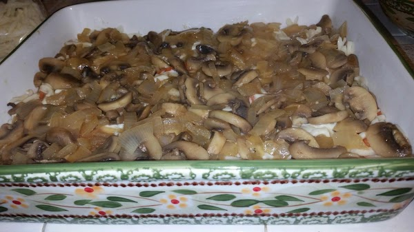 Madeira Sauce - In pan chicken was browned in, add onions and sliced mushrooms,...