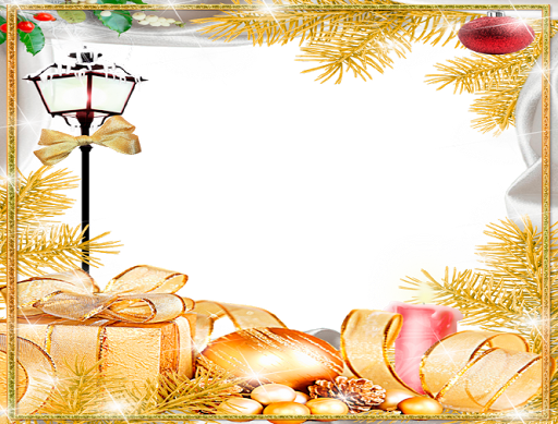 Golden Christmas Photo Frames