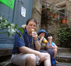 Photo: And then got ice cream when we arrived in the town - we ate a LOT of ice cream while in Italy because it was ubiquitous and so good!