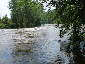 Photo: Housatonic River at flood stage