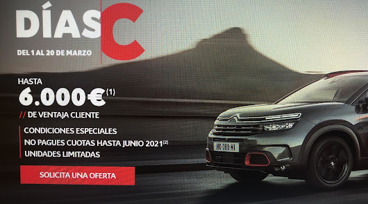 """Llegan los días """"C"""" de Citroën Salinas Car. Hasta el 20 de marzo"""
