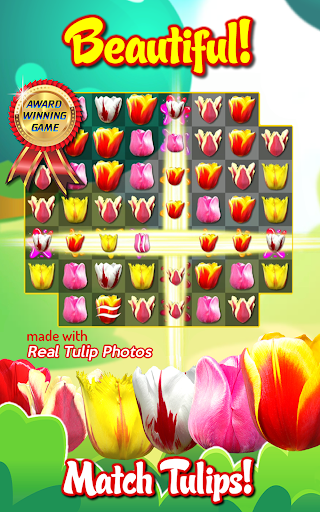 Tulip Crush 🌷 Match 3 Beautifully 🐝 Flower Game ss1