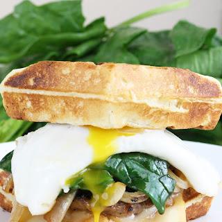 Maple Sausage and Waffle Breakfast Sandwich.