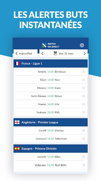 Résultats Foot en Direct Android App Screenshot