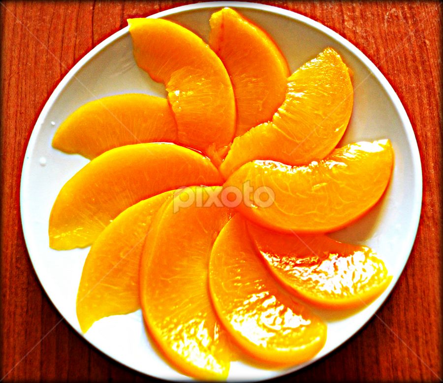 pinwheel by Ne-z Lim - Food & Drink Fruits & Vegetables ( plated fruit, pwcfruit, artistic objects, peaches, food art )