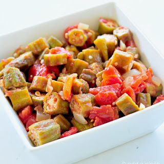 Okra and Tomatoes.